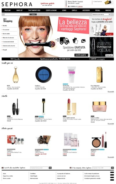 SEPHORA_immagine e-commerce