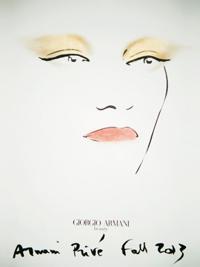 bozzetto makeup Giorgio Armani sfilata Privé Nude