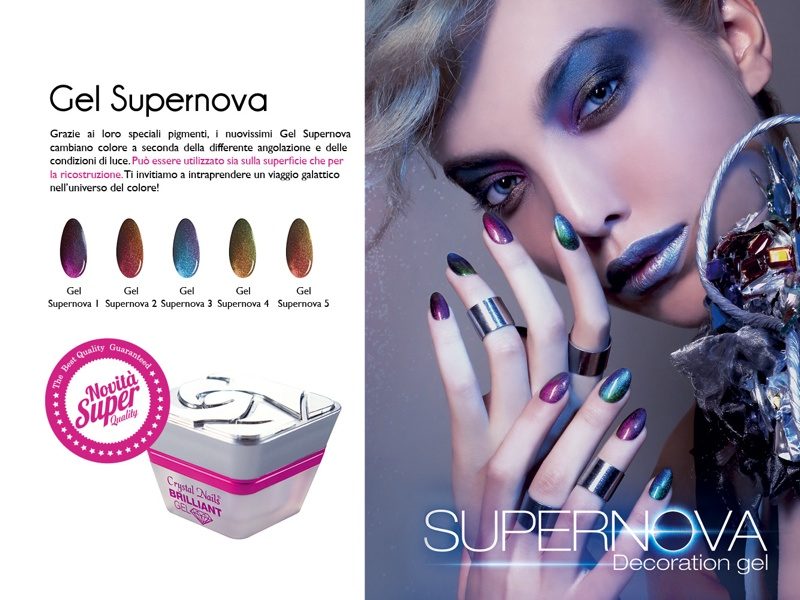 I nuovi gel Supernova di Crystal Nails